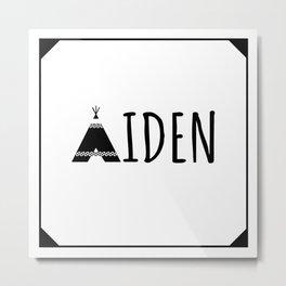 Aiden Teepee Metal Print
