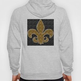 Black and Gold Fleur De Lis Hoody