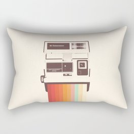 Instant Camera Rainbow Rectangular Pillow
