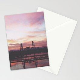 Steel Bridge Sunrise Stationery Cards