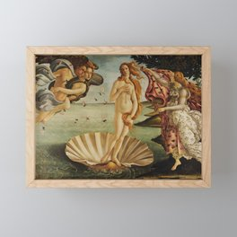 The Birth of Venus by Sandro Botticelli Framed Mini Art Print