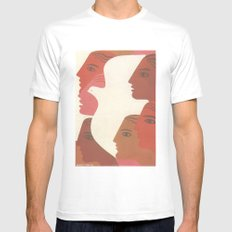 Peace Mens Fitted Tee White LARGE