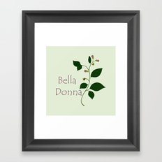 Bella Donna Framed Art Print
