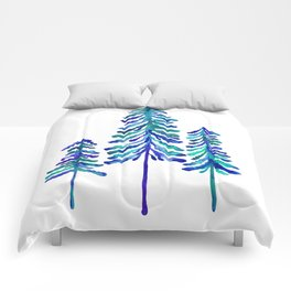 Pine Trees – Navy & Turquoise Palette Comforters