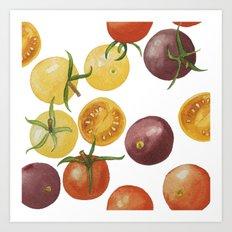Heirloom Cherry Tomatoes Art Print