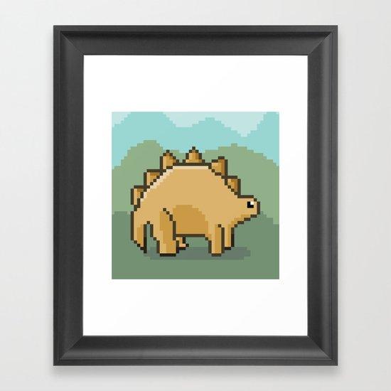 Pixel Dino! Framed Art Print