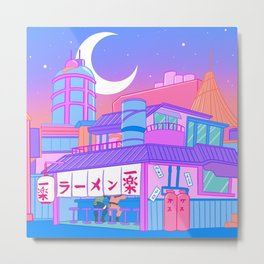 Ramen with Sensei Metal Print