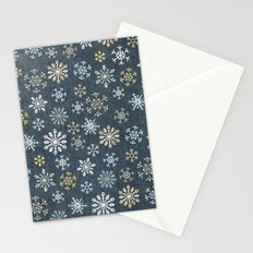 night time snow  Stationery Cards