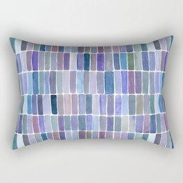 Blue Watercolors Rectangular Pillow