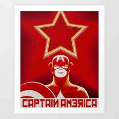 Soviet Art - Captain America Art Print