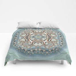 Playful circles pattern with dandelions Comforters