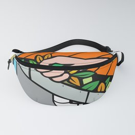 Hand Cleaning Roof Rain Gutter Icon Fanny Pack