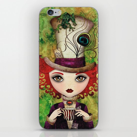 Lady Hatter iPhone & iPod Skin