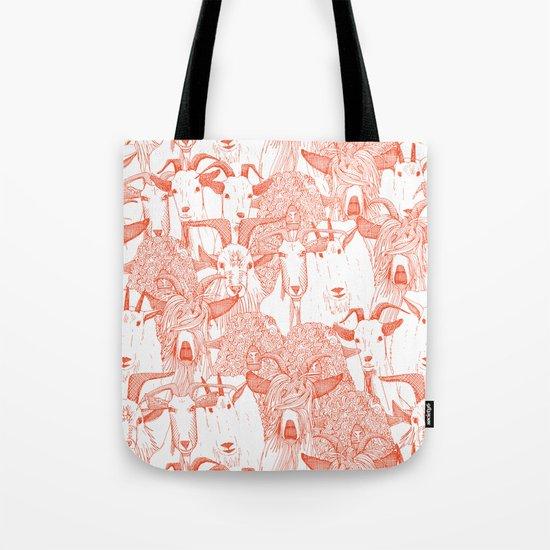 just goats flame orange Tote Bag
