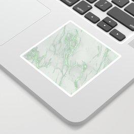Marble Love Green Metallic Sticker