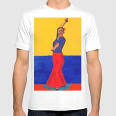 The Flamenco Dancer - ANALOG zine White MEDIUM Mens Fitted Tee