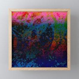 Extruding Color Framed Mini Art Print