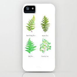 fern collection watercolor iPhone Case