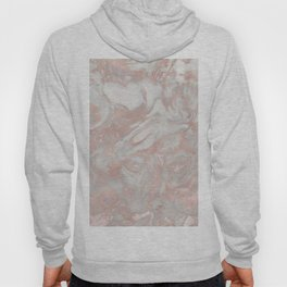 French polished rose gold marble Hoody