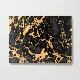 Marble Texture Surface 48 Metal Print