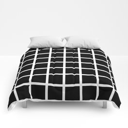 Modern Checkers (man cave black) Comforters
