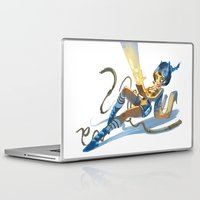 pin up Laptop & iPad Skins featuring Pin up by paul drouin