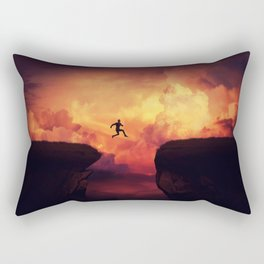 ump over a chasm Rectangular Pillow