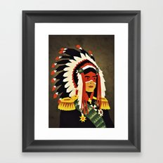 General Chief Framed Art Print