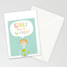 Girls Rule Stationery Cards