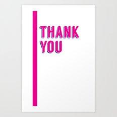 thank you 2 Art Print