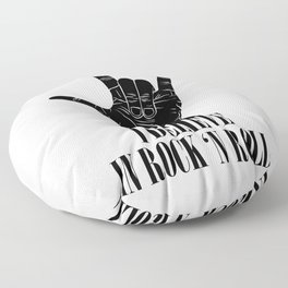 I believe in rock and roll Floor Pillow