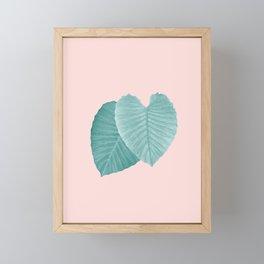Love Leaves Evergreen Blush - Him & Her #2 #decor #art #society6 Framed Mini Art Print