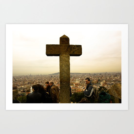 A top Barcelona Art Print