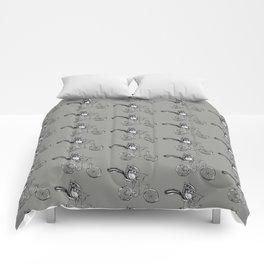 Ride On Chipmunk_grey Comforters
