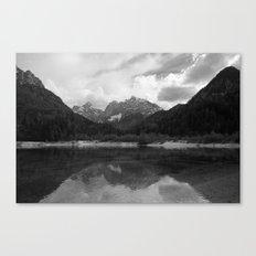 Kranjska Gora in black and white Canvas Print
