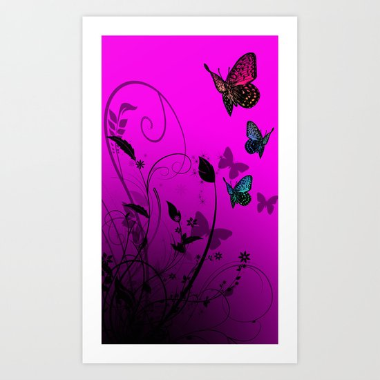 Summer Butterflies Art Print