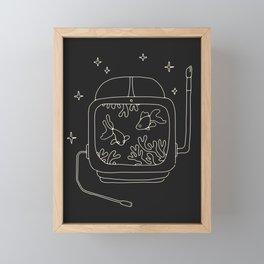 Astronaut Helmet in Water Framed Mini Art Print