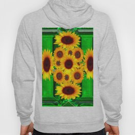 SPRING GREEN EMERALDS & YELLOW FLOWERS  ART Hoody