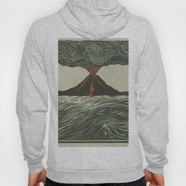 Volcano Woodcut Hoody