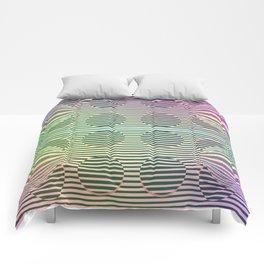 Deformed dots rainbow pattern Comforters