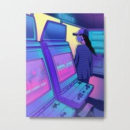 Arcade Hours Metal Print