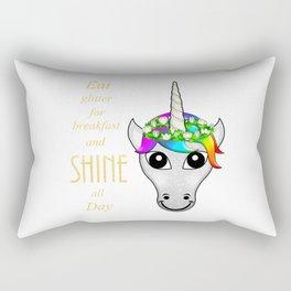 Eat Glitter for breakfast and SHINE all Day Rectangular Pillow