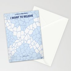 No792 My I Want to Believe minimal movie poster Stationery Cards