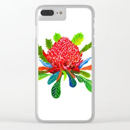 Waratah Clear iPhone Case