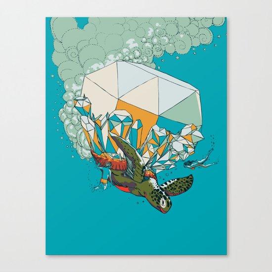 TURTLE& THE DIAMONDS Canvas Print