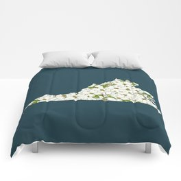 Virginia in Flowers Comforters