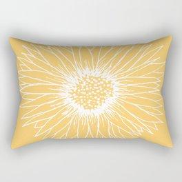 Minimalist Sunflower Rectangular Pillow
