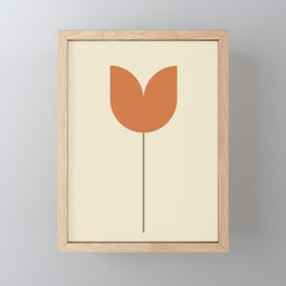 Red Tulip Minimal Framed Mini Art Print