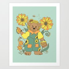 Little Bears Garden Art Print