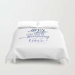 Running out of time | Hamilton Duvet Cover